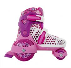 SFR STOMPER Adjustable Quad Roller Skates - Pink